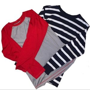 Bundle of Two Gap Kids Long Sleeve Shirts